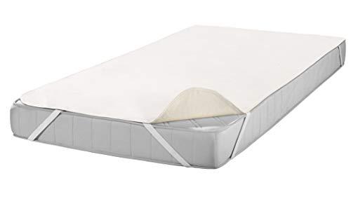 SETEX Molton Matratzenschutz, 140 x 200 cm, Eckgummis, 100 % Baumwolle, Basic, Naturfarben 1607140200001001