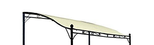 DEGAMO Ersatz Dachplane für Anbaupavillon Mantova 300x250cm, wasserdicht Ecru
