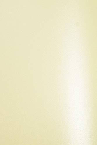 10 x Perlmutt-Creme 120g Papier DIN A4 210x297 mm Aster Metallic Cream Effekt-Papier Ecru Bastel-Papier metallic elfenbeinfarben Pearl-Papier edel für Hochzeit Geburtstag Weihnachten Einladungen
