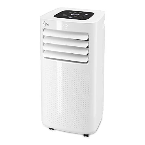 SUNTEC Mobiles Klimagerät CoolFixx 2.0 Eco R290 – Klimaanlage mobil mit Abluftschlauch – Kühler und Entfeuchter für Räume bis 25 qm – Leise mobile Kühlung für Wohnung & Büro – 7.000 BTU – 2050 Watt