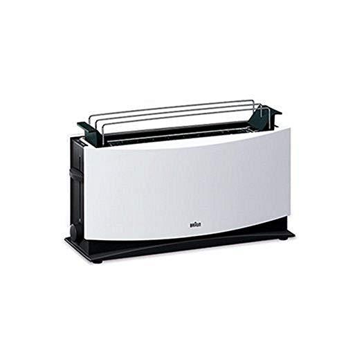 Braun MultiQuick 5 HT 550 WH Toaster - 1000 Watt Langschlitztoaster mit Brötchenaufsatz, Brothebefunktion, Sicherheitsabschaltung, Stufenlose Röstgradkontrolle, weiß
