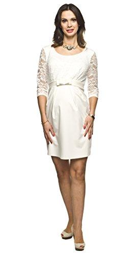 Torelle Maternity Wear Brautkleid Standesamt, Hochzeitskleid für Schwangere Modell: Amber, Creme, L