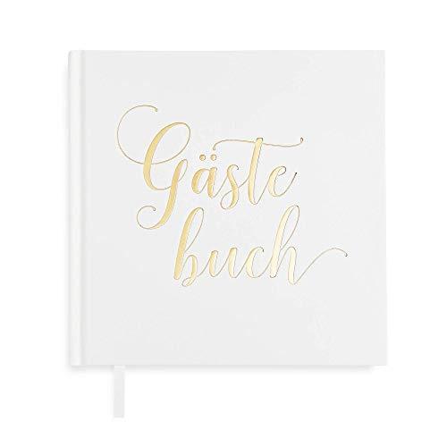 Plantvibes ® Edles Gästebuch, 72 Seiten, Hardcover, hochwertiges Papier, Vintage Guest-Book für die Hochzeit, Taufe oder den Geburtstag, Hochzeits-Buch, Hochzeits-Album, Hochzeits-Gästebuch