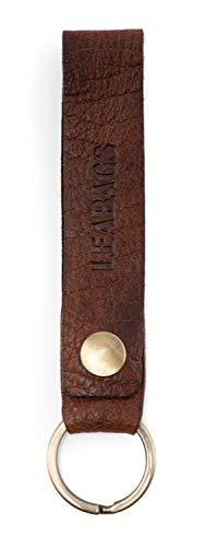 LEABAGS Lewes 1901 Schlüsselanhänger Damen & Herren - echtes Leder - Vintage Look - Rosso