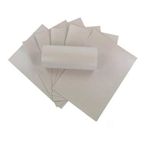 ZADAWERK® Perlmuttpapier - 120 g/m²- A4 - Elfenbein - 50 Stück - einseitig - Hochzeit