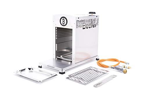 Beefer Original One Pro   der echte 800 Grad Premium Oberhitze Gasgrill   Edelstahl, Hochtemperatur   Der Hochleistungsgrill für das perfekte Steak mit gewerblicher Zulassung