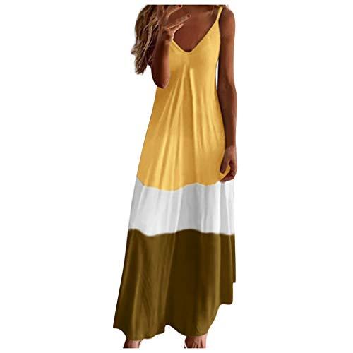 Damen Sommer Sexy Kleid Rot Damen Badekleid Damen Sommerkleider Günstig Kleidersack Brautkleid Stufenkleid Brautkleid Prinzessin Hochzeitskleid Weiß Lange Abendkleider One(Gelb,L)