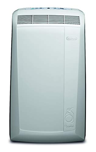 De'Longhi Pinguino PAC N82 Eco mobiles Klimagerät mit Abluftschlauch, Klimaanlage für Räume bis 80 m³, Luftentfeuchter, Ventilationsfunktion, 12h-Timer, weiß