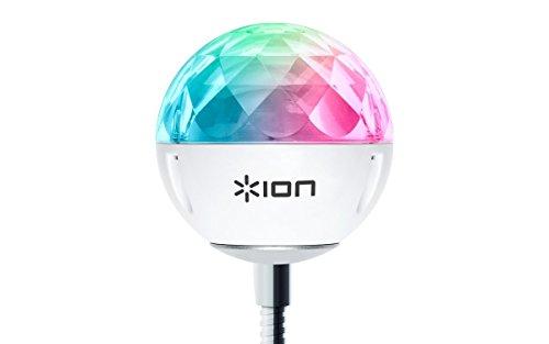 ION Audio Party Ball USB - Mini USB betriebene Discokugel Led Party Lampe, synchron im Takt zur Musik – Perfekt für Laptop, Fernseher, Lautsprecher, Musikanlage, Soundanlage, Soundbox
