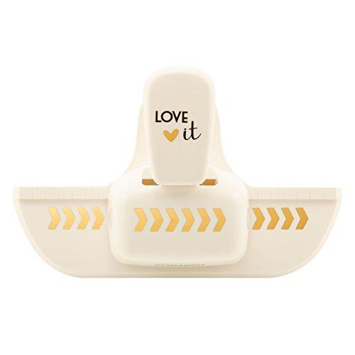 Vaessen Creative 21498-001 Love It Kollektion Bordürenstanzer Winkel, Medium, Motivlocher aus Plastik, zum Basteln mit Papier und Scrapbooking, Mehrfarbig, Größe M
