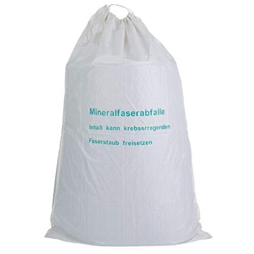 KMF Säcke 220cm Sack Glaswolle Faserstaub Mineralwolle BIG BAG Isolierwolle Entsorgung Sack TRGS521 (10)
