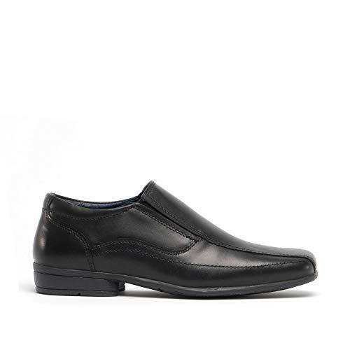 Roamers Hochzeitskleid für Jungen, formelle Schuhe, Leder, zum Reinschlüpfen, für die Schule, Schwarz - Schwarz - Größe: 34 EU