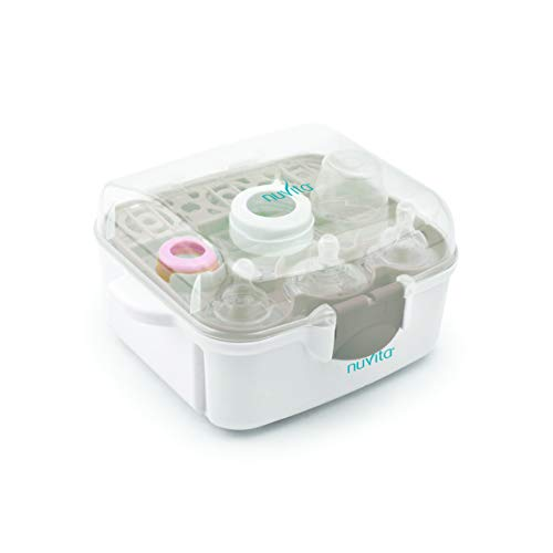 Nuvita 1085 Mikrowellen Sterilisator |Babyzubehör Desinfektionsgerät | Mikrowellen Dampfvaporisator | Sterilisiergerät | Sauger, Babyflaschen&Zubehör Dampfsterilisator |FREI von BPA| EU Markenprodukt