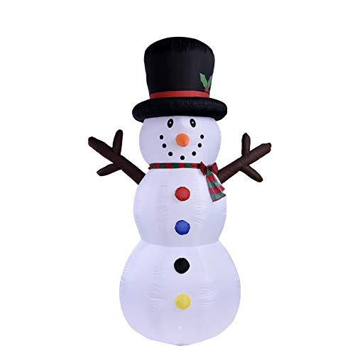8FT / 240cm Weihnachten Schneemann Niedliche aufblasbare Modell Outdoor-Dekoration LED-Lichter Blow Up Yard Lawn Dekorationen