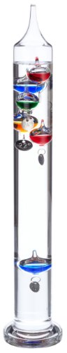 TFA Dostmann Galileo Galilei Flüssigkeitsthermometer, Temperaturmessung, einfaches Ablesen, dekorativ
