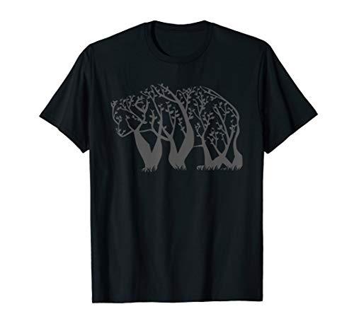 Bär Baum Wald Natur Umwelt Outdoor T-Shirt