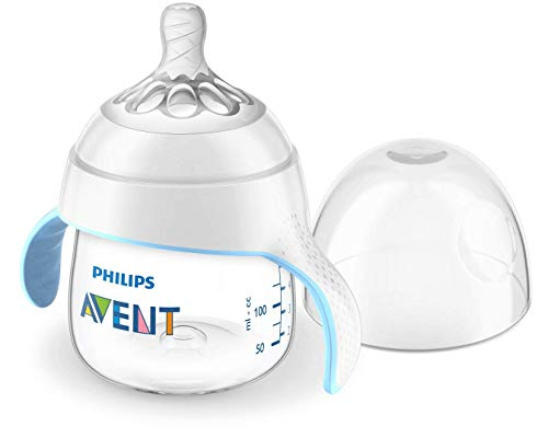 Philips Avent Trinklernbecher mit Natural-Sauger SCF262/06, Anti-Kolik System, Griffe, 150ml, 4m+