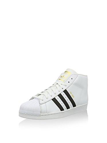 adidas Herren Superstar Pro Model Hightop Sneaker, weiß, 37 1/3 EU