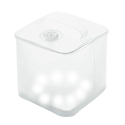 Brilex LED Laterne Camping Laterne mit 4 Beleuchtungsarten, IP67 Wasserdichte Stufen, Solar Angetriebene Aufblasbare Laterne, Superleichtes Tragen