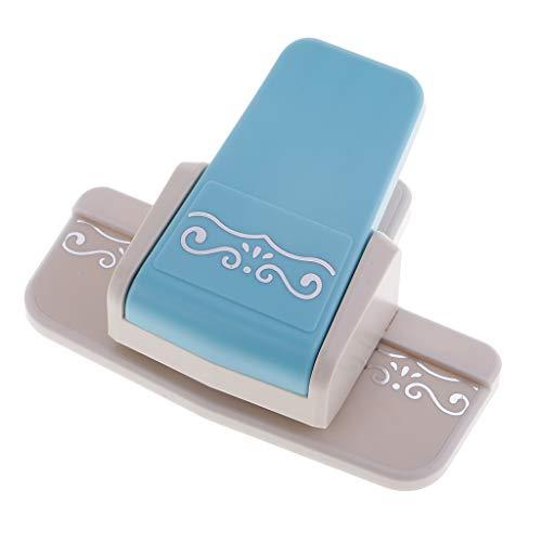 Bordürenstanzer Papier Foto Locher Paper Punch für Handwerk DIY Scrapbooking Tagebuch Geschenk - Blau