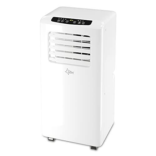 SUNTEC Mobiles Klimagerät Impuls 2.6 Eco R290 – Klimaanlage mobil und leise mit Abluftschlauch – Kühler & Entfeuchter für Räume bis 34 qm – Mobile Kühlung für Wohnung & Büro – 9.000 BTU   2600 Watt