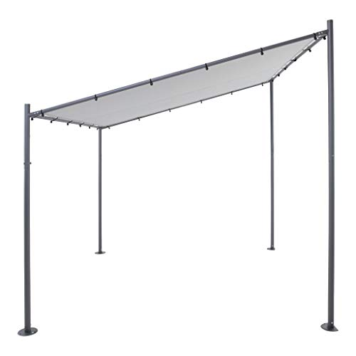 SORARA Milano Wandpavillon | Grau | 285 x 300 cm | Sonnensegel