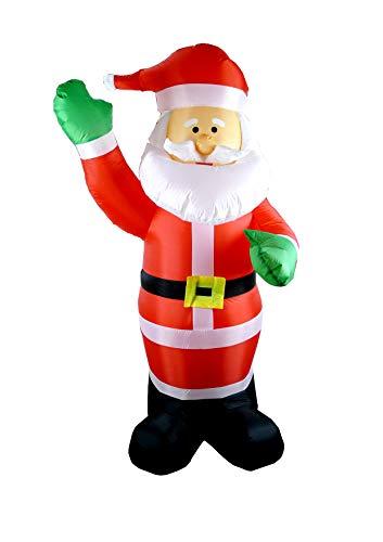 HEITMANN DECO Aufblasbarer Weihnachtsmann - Santa Clause Garten-Figur Weihnachtsdekoration - 180 cm, Rot