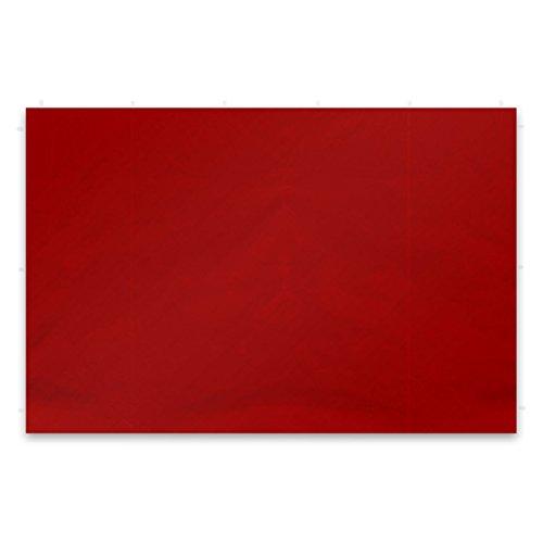 Nexos GM36242 2 Stück Seitenwände Seitenteile Ersatzwände Ohne Fenster für Falt-Pavillon – 295 x 215 cm/PE 180 g/m² – Hochwertig – Farbe: Rot,