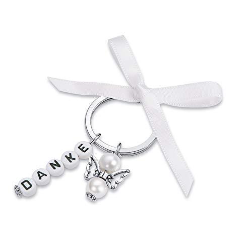 15 Gastgeschenke Hochzeit Schlüsselanhänger mit 15 Organza Beutel Gastgeschenk Taufe Weihnachten Geburtstag Kommunion Konfirmation Geschenk für Gäste Anhänger Danke kleines Dankeschön