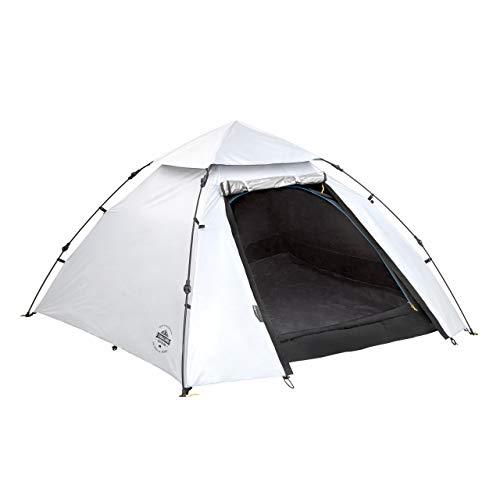 Lumaland Outdoor Pop Up Cool Reflective Kuppelzelt Wurfzelt 3 Personen Zelt - Sekundenzelt Camping Festival etc. 215 x 195 x 120 cm Tragetasche