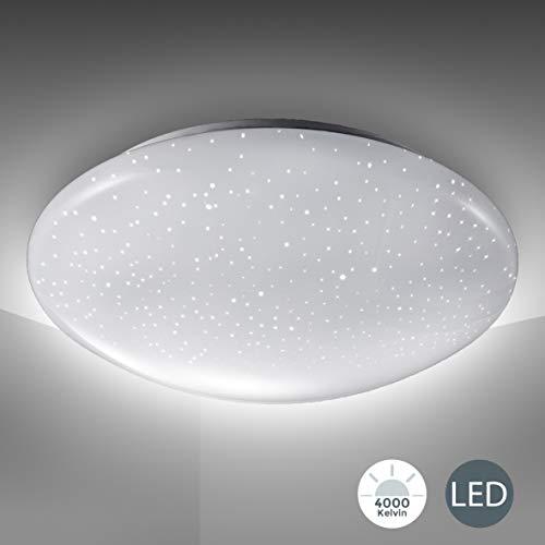 LED Deckenlampe inkl. 12W 1200lm LED Platine, Sternenlicht, Deckenleuchte 4000K neutralweiß, 230V, IP20, Ø 280mm