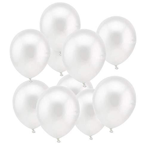 JOJOR 100 Stücke Luftballons Weiß Helium,Latex Weiss Ballons Ø 30 cm für Hochzeit Valentinstag Geburtstag Taufe Kommunion Party Deko