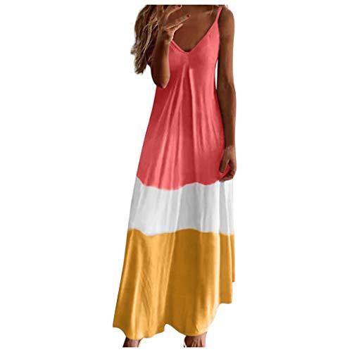 Damen Sommer Sexy Kleid Rot Damen Badekleid Damen Sommerkleider Günstig Kleidersack Brautkleid Stufenkleid Brautkleid Prinzessin Hochzeitskleid Weiß Lange Abendkleider One(Rot,XL)