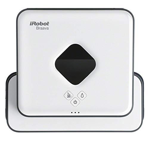 iRobot Braava 390t Wischroboter, intelligente Navigation, 2 in 1: Trocken- und Feuchtreinigung, Ideal für mehrere Räume und große Flächen, verwendet Einwegtücher und waschbare Reinigungstücher, Leise
