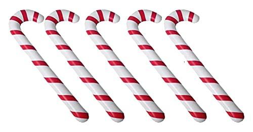 Aufblasbare Candy Cane Weihnachten Aufblasbare 10 Stück Innen/Außen Hof Garten Veranda Gartendekorationen (Farbe : Picture 1, Size : 88X25CM)