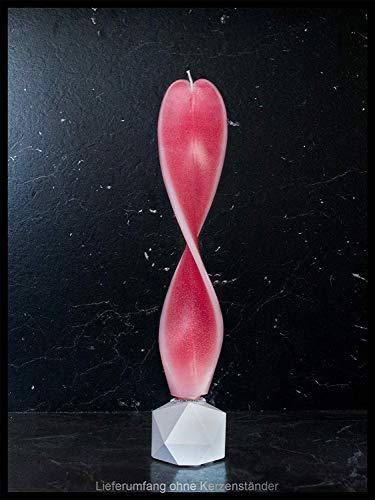 Geschenk o. Deko Engelslicht handgemacht. Für Ihre Lieben zum Geburtstag, Weihnachten o. Muttertag. Rot/rosa-weiß Dekor