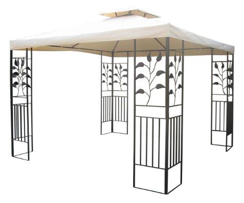Gartenpavillon 3x3m Pavillon Toscana Pavillion beige