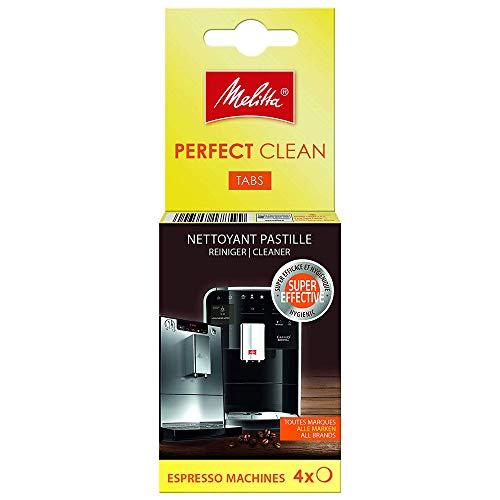 Melitta 178599 Perfect Clean Reinigungstabs für Kaffeevollautomaten und Espressomaschinen | 4 Tabs | gründlich und schonend