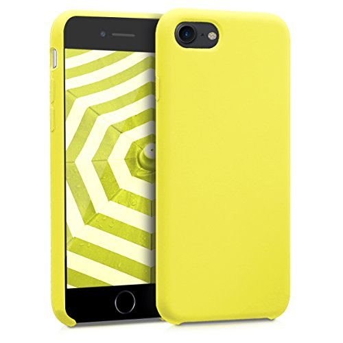 kwmobile Hülle kompatibel mit Apple iPhone 7/8 / SE (2020) - Hülle Handyhülle gummiert - Handy Case in Neon Gelb