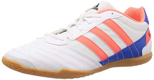 adidas Herren Super Sala Fußballschuhe, Weiß (FTWR White/Signal Coral/Glory Blue), 46 2/3 EU