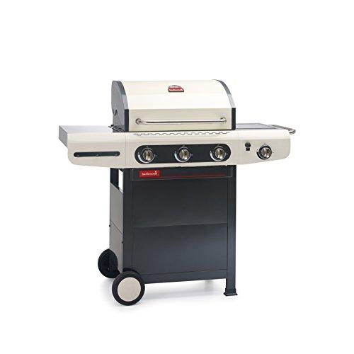 Gasgrill Siesta 3 Flammen Brenner mit Seitenbrenner Outdoor-Küche