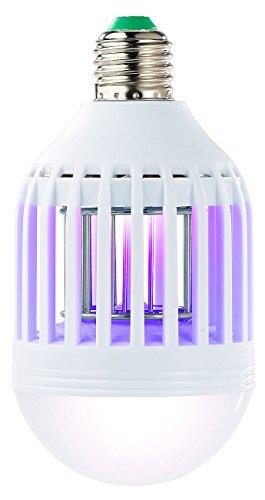 Exbuster Lampe Insekten: 2in1-UV-Insektenkiller & LED-Lampe E27, 9 Watt, 550 lm, tageslichtweiß (Mücken-Killer)