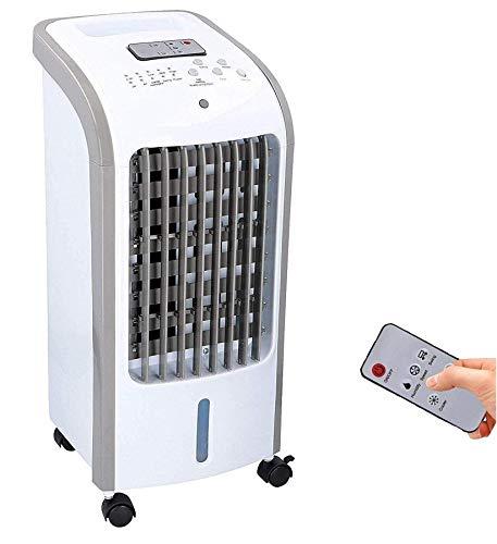 JUNG TVE25 mobiles Klimagerät mit Wasserkühlung, TÜV geprüft, inkl. Fernbedienung + Timer, Mobile Klimaanlage leise, Kühlender Ventilator ohne Abluftschlauch