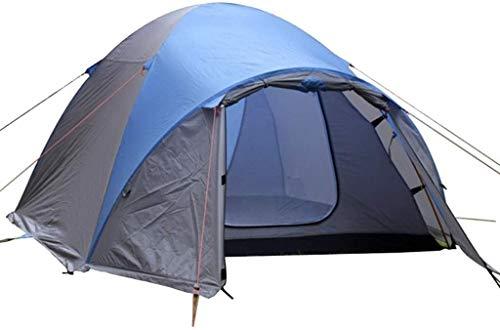 WSJYP Camping Zelt, Outdoor Double Layer Wasserdicht Sonnenschutz 2-3 Personen Zelt, Familienzelt, Rucksack Zelt,Blue