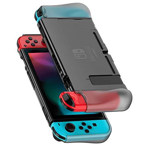 UGREEN Case für Nintendo Switch Schutzhülle Switch Silikon Hülle Transparent Dockable Crystal Case Passt Perfect auf Dock und Joy Con