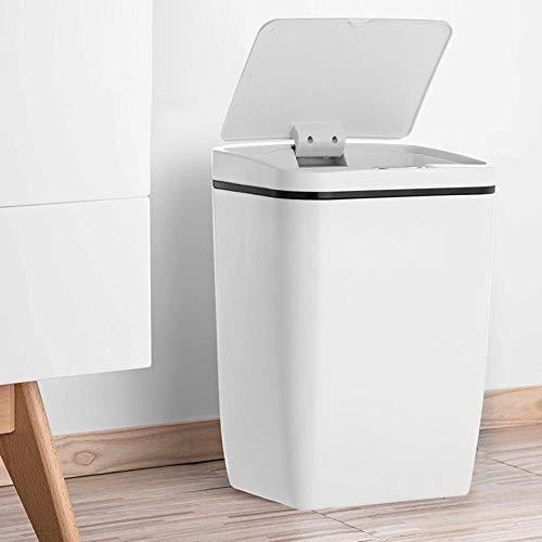 SHIXIUF Intelligente Sensor Mülleimer automatische Induktion Mülleimer Induktion Mülleimer Umwelt Mülleimer Haushalt 12L-White_12L