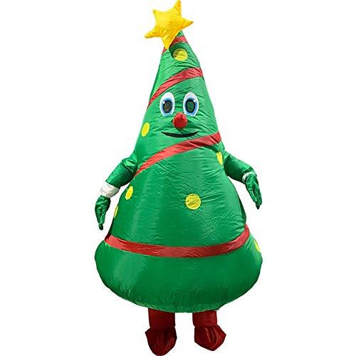 sknonr Weihnachten Kostüm Requisiten Aufblasbare Weihnachtsmann Verkleiden Kleidung Weihnachtsbaum