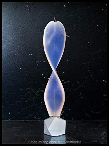 Blaue Deko für die Wohnung. Engelslicht Kerze. Besonderes Geschenk zu Ostern, Weihnachten, Geburtstag. Dekorative, handgemachte blau-weiße Engelskerze