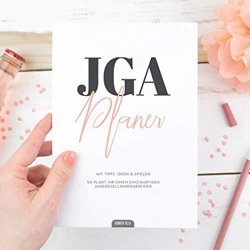 Junggesellinnenabschied planen, JGA Planer, 64-Seiten Buch mit Tipps, Ideen und Spiele für Junggesellenabschied Frauen