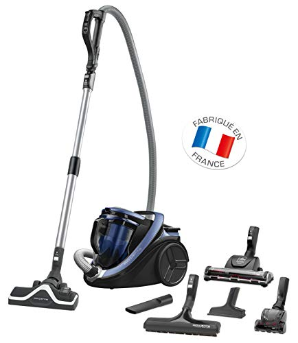 Rowenta RO7681EA Silence Force Cyclonic Animal Care Pro Bodenstaubsauger (2,5 L, 750 W) blau